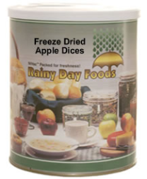 Freeze Dried Apple Dices #2.5 can