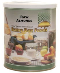 Raw Almonds #2.5 can